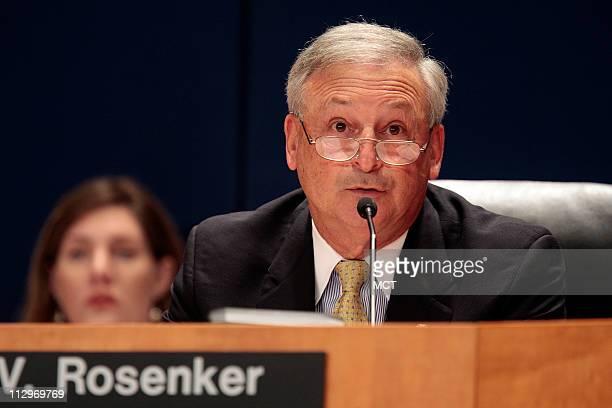 Chairman Mark Rosenker leads an NTSB meeting on the Lexington Kentucky crash investigation on Comair Flight 5191 Thursday July 26 2007 in Washington...