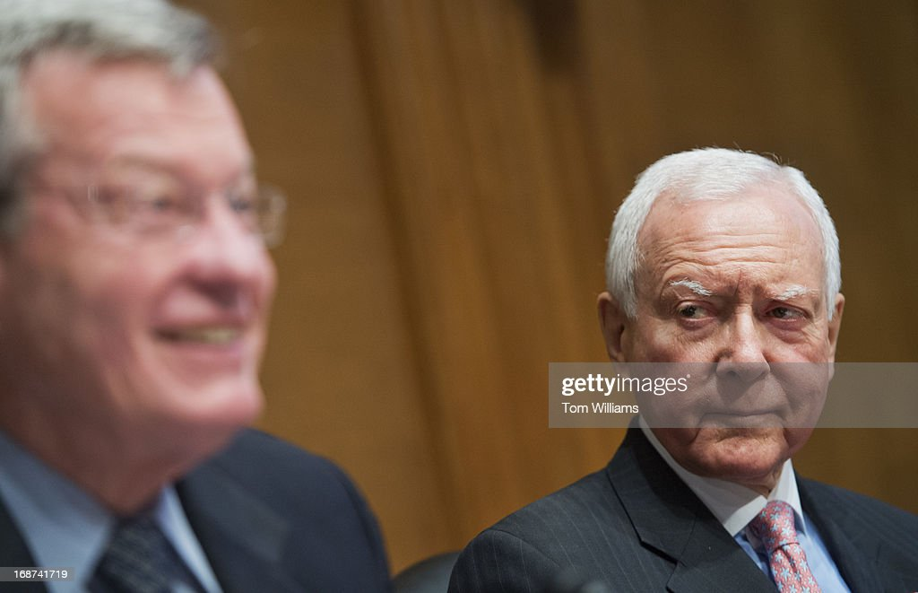 Chairman Max Baucus, D-Mont., left, and Sen. Orrin Hatch, R-Utah, ranking member, conduct a Senate Fiance Committee hearing in Dirksen titled 'Advancing Reform: Medicare Physicians Payments.'
