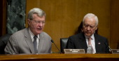 Chairman Max Baucus DMT and Sen Orrin Hatch RUT during the Finance Committee oversight hearing to examine recovery audit contractors focusing on...