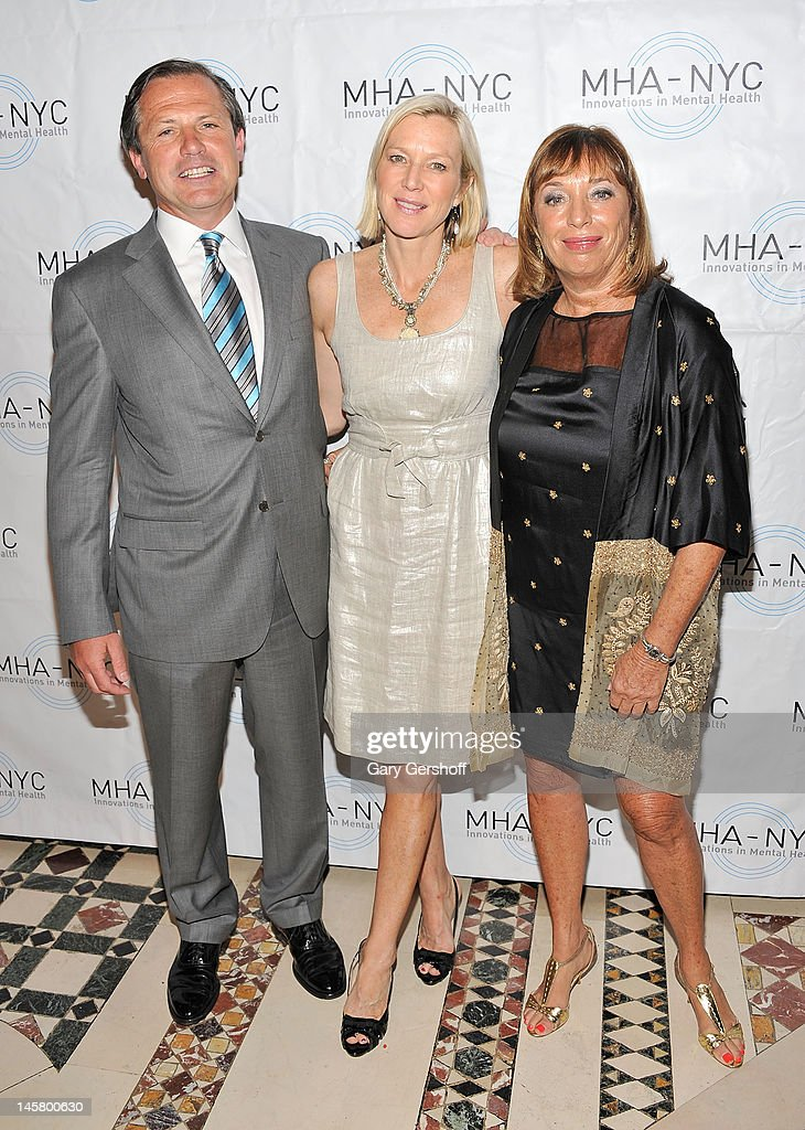 Chairman, MHA-NYC, Kevin Danehy, event host Lee Woodruff and President and CEO of MHA-NYC, Giselle Stolper, attend the 2012 Mental Health Association Of New York City Celebration Of Hope Gala at Cipriani 42nd Street on June 5, 2012 in New York City.