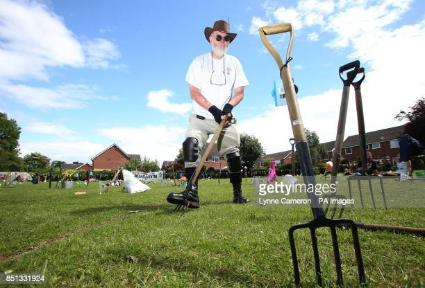 Chairman Mike Forster at the 34th World Worm Charming Championship in Willaston Cheshire PRESS ASSOCIATION Photo Picture date Saturday June 22 2013...