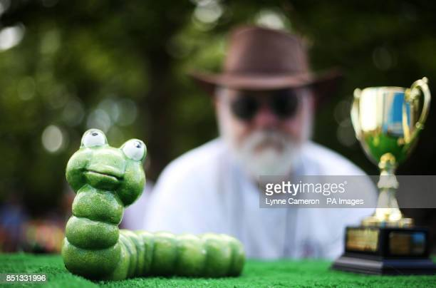 Chairman Mike Forster at the 34th World Worm Charming Championship in Willaston Cheshire