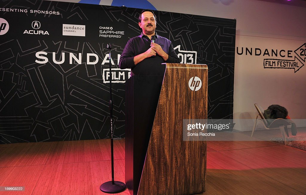 Chairman, Mumbai Mantra Rohit Khattar speaks onstage during the Sundance Institute Mahindra Global Filmmaking Award Reception at Sundance House on January 22, 2013 in Park City, Utah.