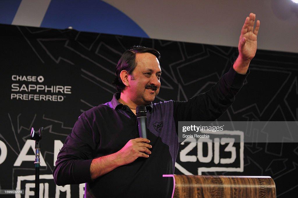 Chairman, Mumbai Mantra Rohit Khattar speaks onstage during the Sundance Institute Mahindra Global Filmmaking Award Reception at Sundance House on January 22, 2013 in Park City, Utah.