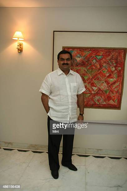 Chairman Of Adani Group Gautam Adani poses for a profile shoot during an interview on Jlu on July 19 2010 in Ahmedabad India