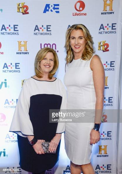Chairman of AE Networks Abbe Raven and President and Chief Executive Officer of AE Networks Nancy Dubuc attend the 2014 AE Networks Upfront on May 8...