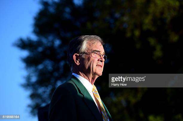 Chairman of Augusta National William Porter Payne attends the ceremonial tee off to start the first round of the 2016 Masters Tournament at Augusta...