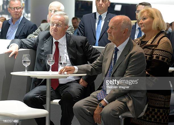 Chairman of board of Volkswagen AG manager Ferdinand Piech and his wife Ursula Piech look on during the press day at the international motor show IAA...