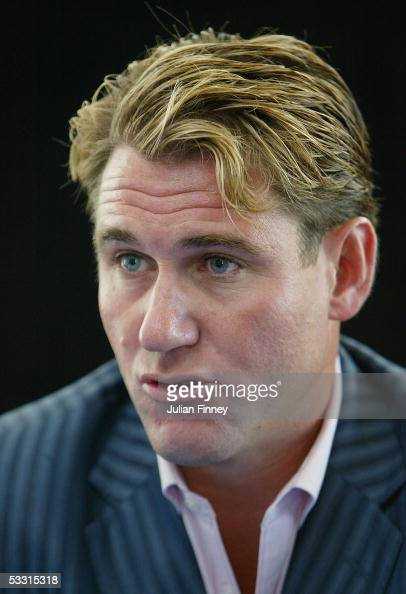 Chairman of Crystal Palace FC Simon Jordan talks to the media as Andy Johnson announces he will stay with Crystal Palace after relegation to the...
