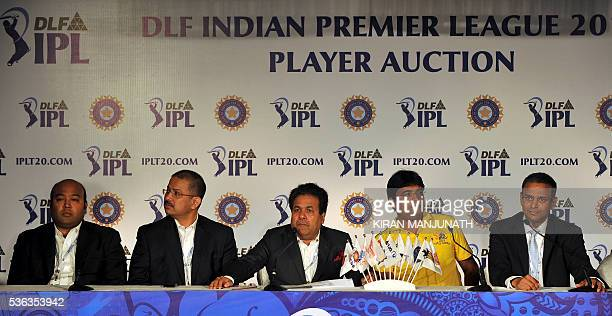 Chairman of Delhi Daredevils Kiran K Grandhi CEO of Kolkata Knight Riders Venki Mysore IPL Chairman Rajiv Shukla owner of Chennai Super Kings...