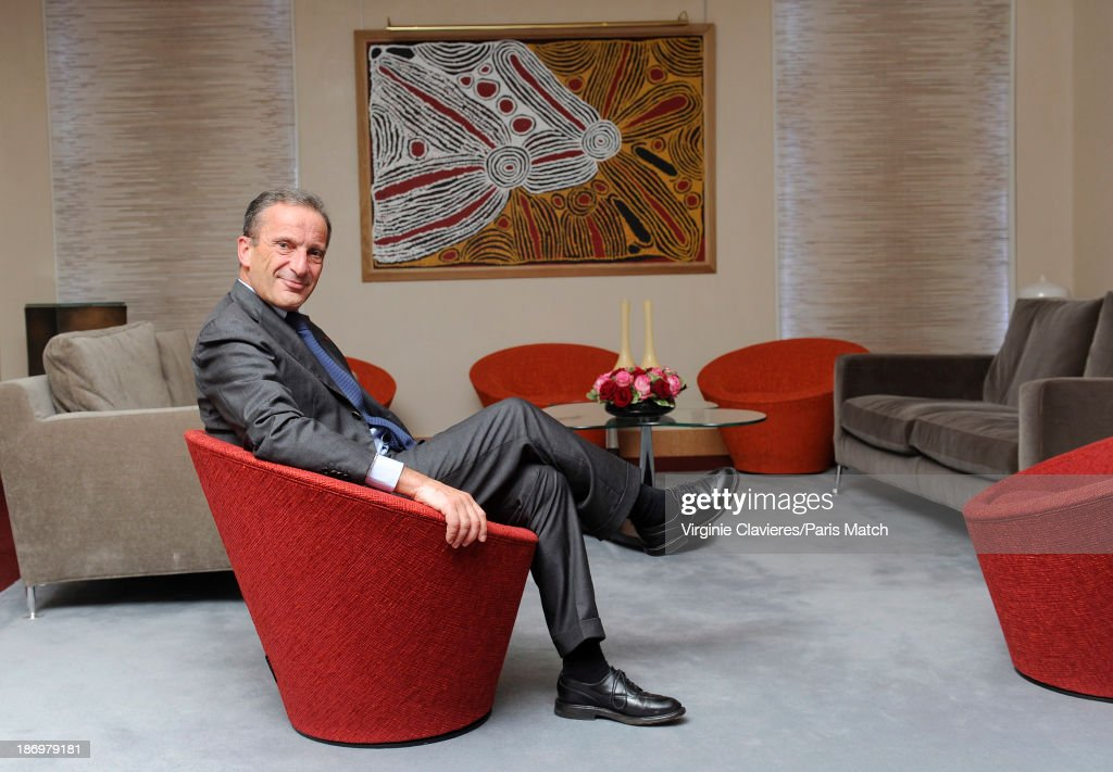 Chairman of French energy firm EDF, <a gi-track='captionPersonalityLinkClicked' href=/galleries/search?phrase=Henri+Proglio&family=editorial&specificpeople=569837 ng-click='$event.stopPropagation()'>Henri Proglio</a> is photographed for Paris Match on October 25, 2013 in Paris, France.