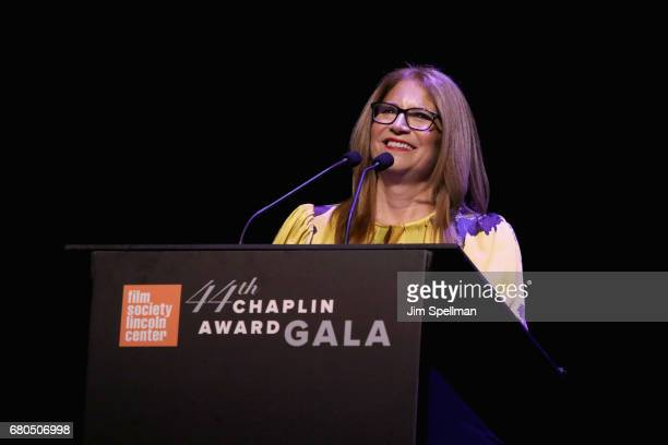 Chairman of FSLC Ann Tenenbaum speaks onstage during the 44th Chaplin Award Gala at David H Koch Theater at Lincoln Center on May 8 2017 in New York...