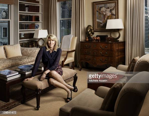 Chairman of Gilt Groupe Susan Lyne photographed at home in her Manhattan apartment for Fortune Magazine on September 13 in New York City Published...