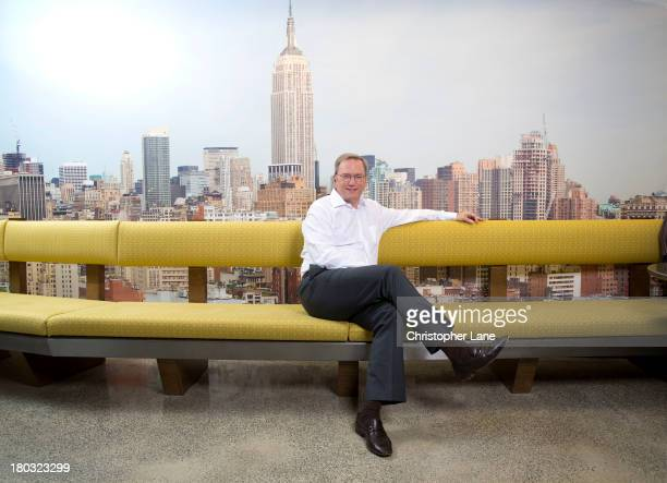 Chairman of Google Eric Schmidt is photographed for The Guardian Newspaper on April 5 in New York City PUBLISHED IMAGE