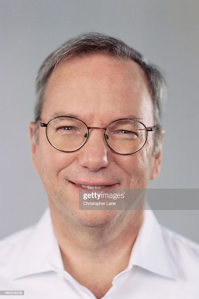 Chairman of Google Eric Schmidt is photographed for The Guardian Newspaper on April 5, 2013, in New York City. PUBLISHED