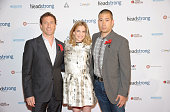 Chairman of Headstrong Project Zach Iscol Actress Anna Chlumsky and husband Shaun So attend the Headstrong Project's first ever Words of War event at...