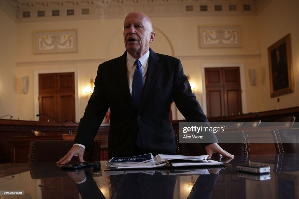 Chairman of House Ways and Means Committee Rep. Kevin Brady (R-TX) speaks during a news briefing on the tax reform legislation November 2, 2017 on Capitol Hill in Washington, DC. House Republicans will unveil the tax reform legislation today.