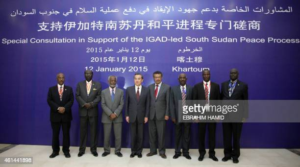 Chairman of IGAD Special Envoys to South Sudan Seyoum Mesfin South Sudan's Foreign Minister Barnaba Marial Benjamin Sudan's Foreign Minister Ali...