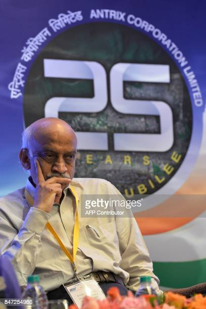 Chairman of Indian Space Research Organisation AS Kiran Kumar takes part in the silver jubilee celebrations for the space technology company Antrix...