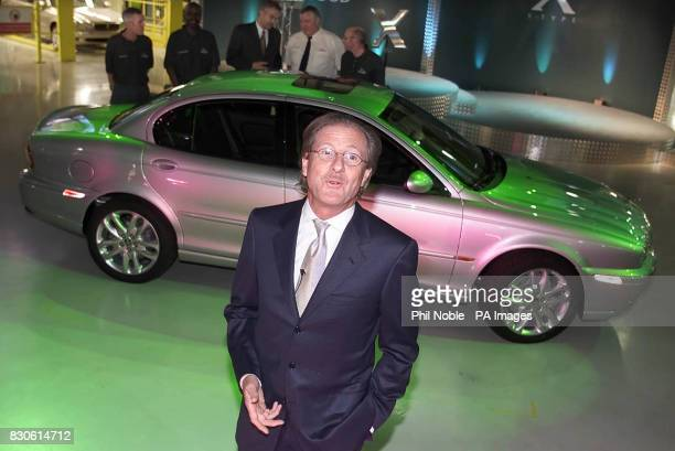 Chairman of Jaguar Cars Ltd Dr Wolfgang Reitzle with the new Jaguar XType at a photocall to mark the official opening of the Halewood Manufacturing...
