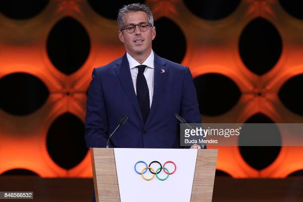 Chairman of Los Angeles 2028 Casey Wasserman during the LA 2028 Presentation during the 131th IOC Session 2024 2028 Olympics Hosts Announcement at...