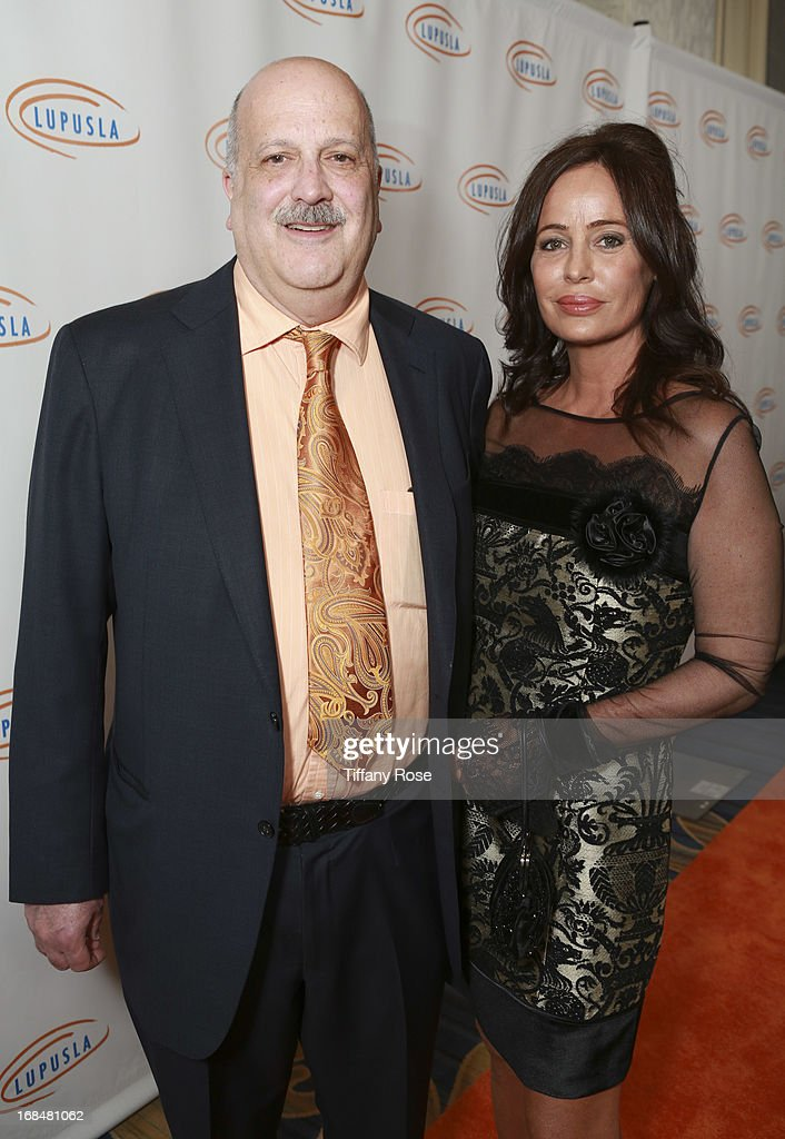 Chairman of Lupus LA Dr. Daniel J. Wallace and Donya Fiorentino attend Lupus LA Orange Ball at the Beverly Wilshire Four Seasons Hotel on May 9, 2013 in Beverly Hills, California.