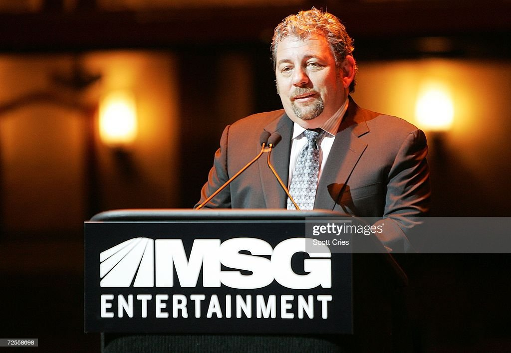 Chairman of MSG and CEO of Cablevision James Dolan speaks during a press conference to announce that MSG Entertainment will acquire the Beacon Theater on November 15, 2006 at the Beacon Theater in New York City.