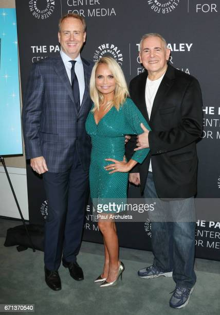 Chairman of NBC Entertainment Bob Greenblatt Actress Kristin Chenoweth and Producer Craig Zadan attend the press preview of 'You Can't Stop The Beat...