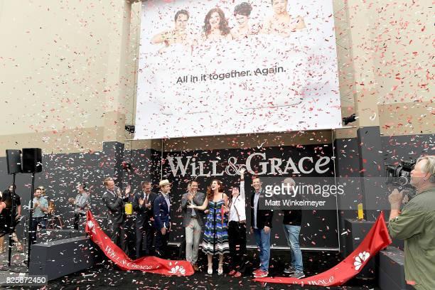 Chairman of NBC Entertainment Robert Greenblatt Mayor of Los Angeles Eric Garcetti writers/creators Max Mutchnick David Kohan actors Eric McCormack...