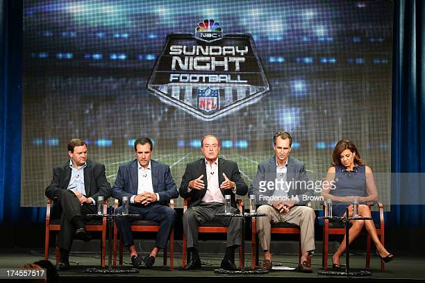 Chairman of NBC Sports Group Mark Lazarus Producer Fred Gaudelli PlaybyPlay Sportscaster Al Michaels Analyst Sportscaster Cris Collinsworth and...