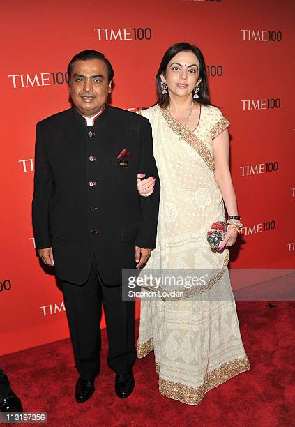 Chairman of Reliance Industries Mukesh Ambani attends the TIME 100 Gala TIME'S 100 Most Influential People In The World at Frederick P Rose Hall Jazz...
