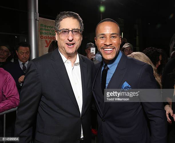 Chairman of Sony Pictures Entertainment Motion Picture Group Tom Rothman and producer DeVon Franklin attend the Premiere Of Columbia Pictures'...