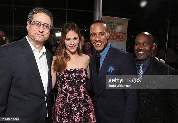Chairman of Sony Pictures Entertainment Motion Picture Group Tom Rothman actress Jennifer Garner producer DeVon Franklin and Derrick White attend the...