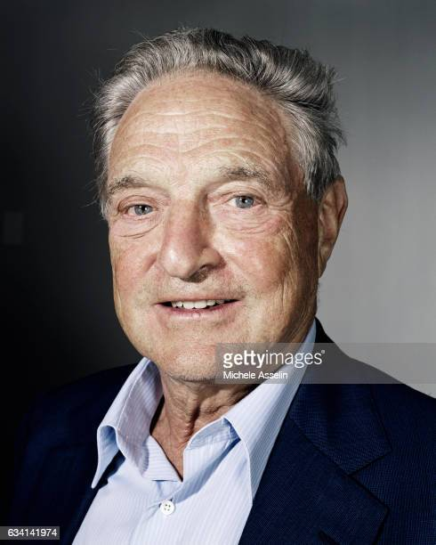 Chairman of Soros Fund Management and the Open Society Institute George Soros poses at a portrait shoot in 2003 in New York City