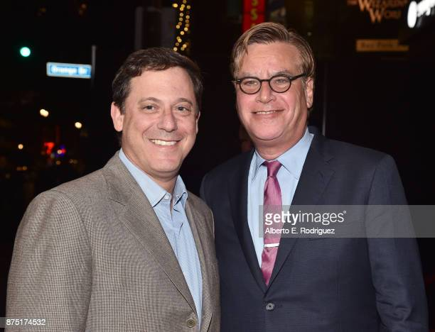 Chairman of STX Films Adam Fogelson and Aaron Sorkin attend the screening of 'Molly's Game' at the Closing Night Gala at AFI FEST 2017 Presented By...