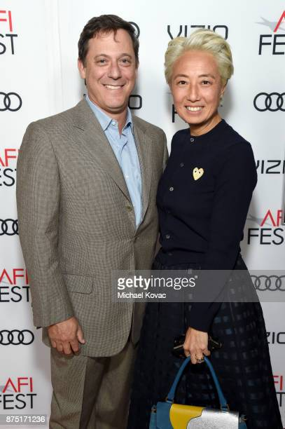 Chairman of STX Films Adam Fogelson and CCO of STX Films Patricia Rockenwagner attend the screening of 'Molly's Game' at the Closing Night Gala at...