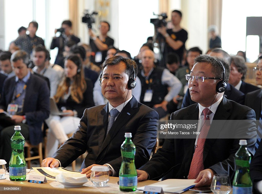 Chairman of Suning Holdings Group, Zhang Jindong attends a FC Internazionale Shareholder's Meeting on June 28, 2016 in Milan, Italy.