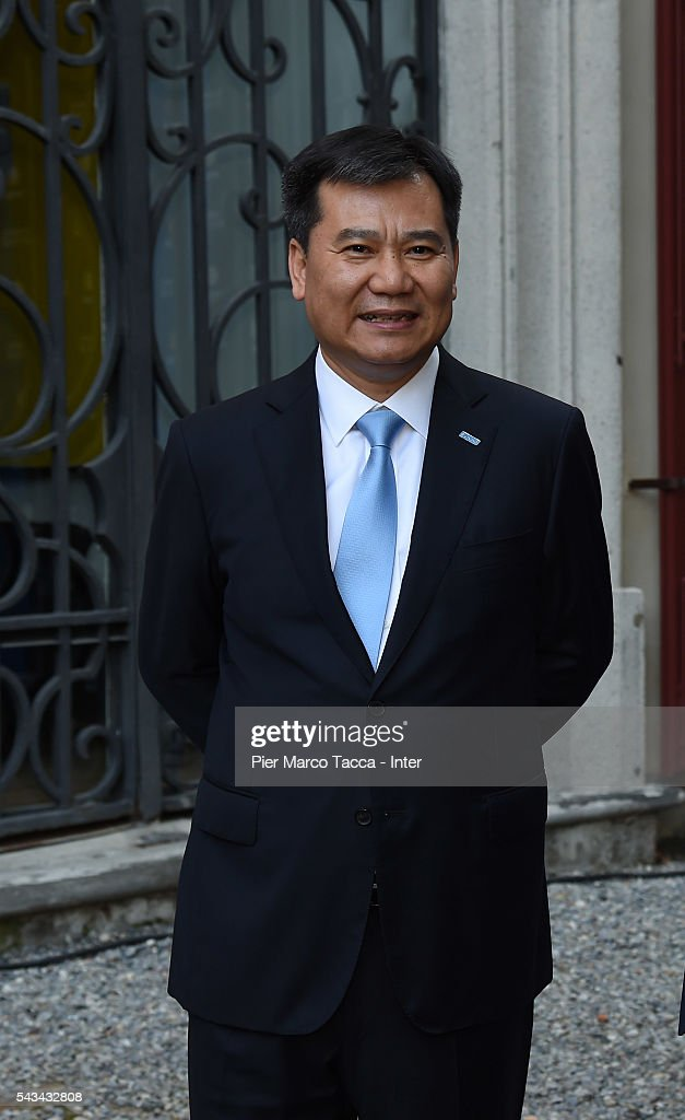 Chairman of Suning Holdings Group Zhang Jindong attends a gala dinner after the FC Internazionale Shareholder's Meeting on June 28, 2016 in Milan, Italy.