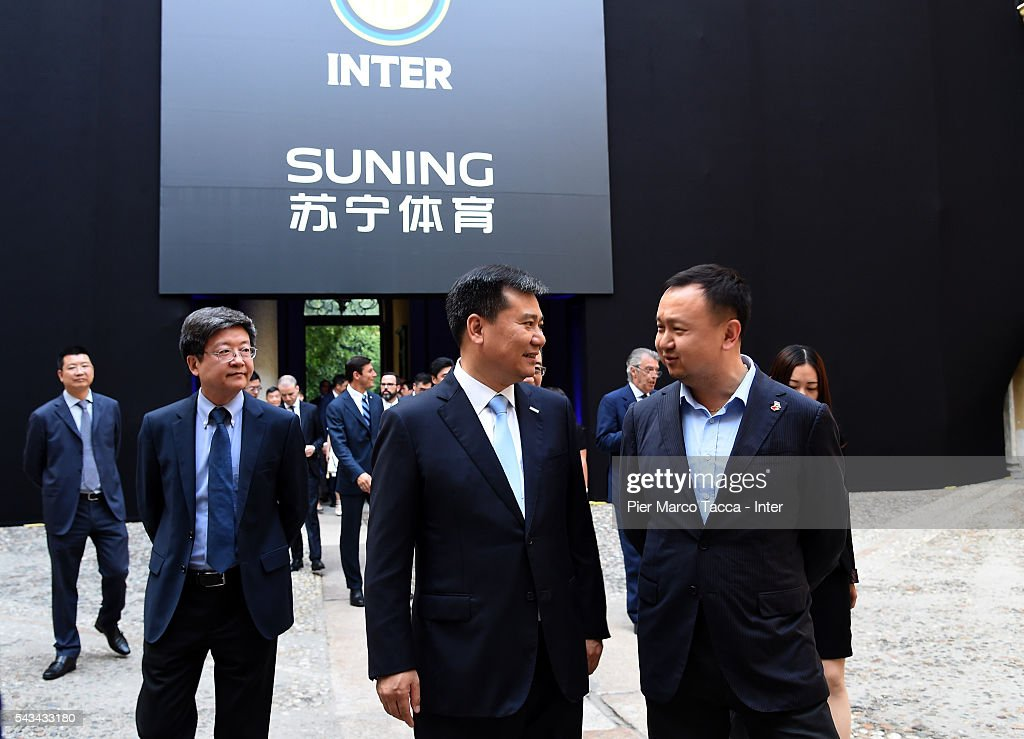Chairman of Suning Holdings Group, Zhang Jindong attends a gala dinner after the FC Internazionale Shareholder's Meeting on June 28, 2016 in Milan, Italy.