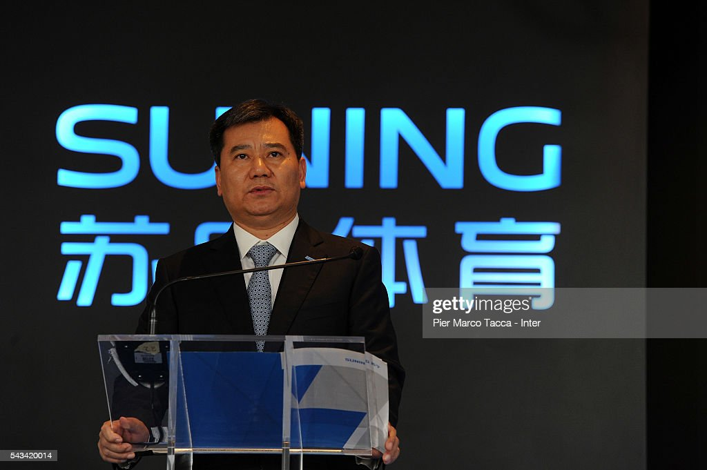 Chairman of Suning Holdings Group, Zhang Jindong talks during FC Internazionale Shareholder's Meeting on June 28, 2016 in Milan, Italy.