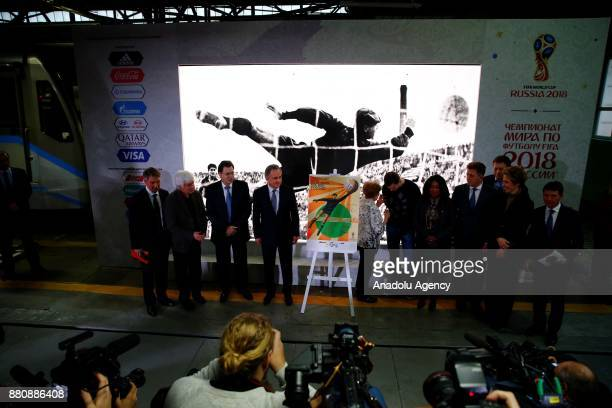 Chairman of the 2018 FIFA World Cup Russia Local Organizing Committee The Deputy Prime Minister of Russia Vitaly Mutko FIFA Secretary General Fatma...
