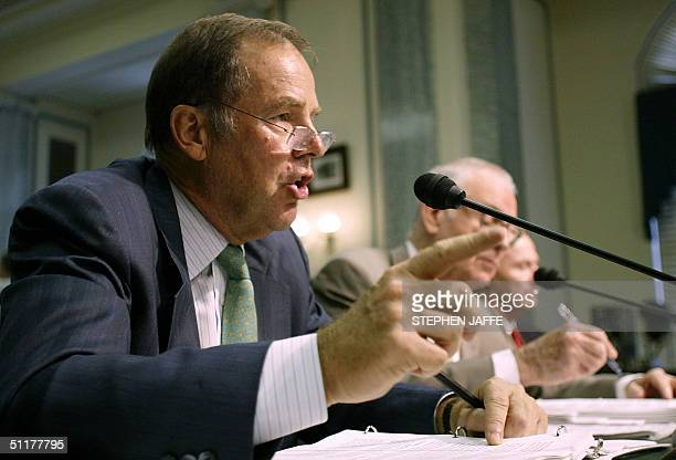 Chairman of the 9/11 Commission Thomas Kean Vice Chairman of the 9/11 Commission Lee Hamilton and Under Secretary for Border and Transportation Asa...