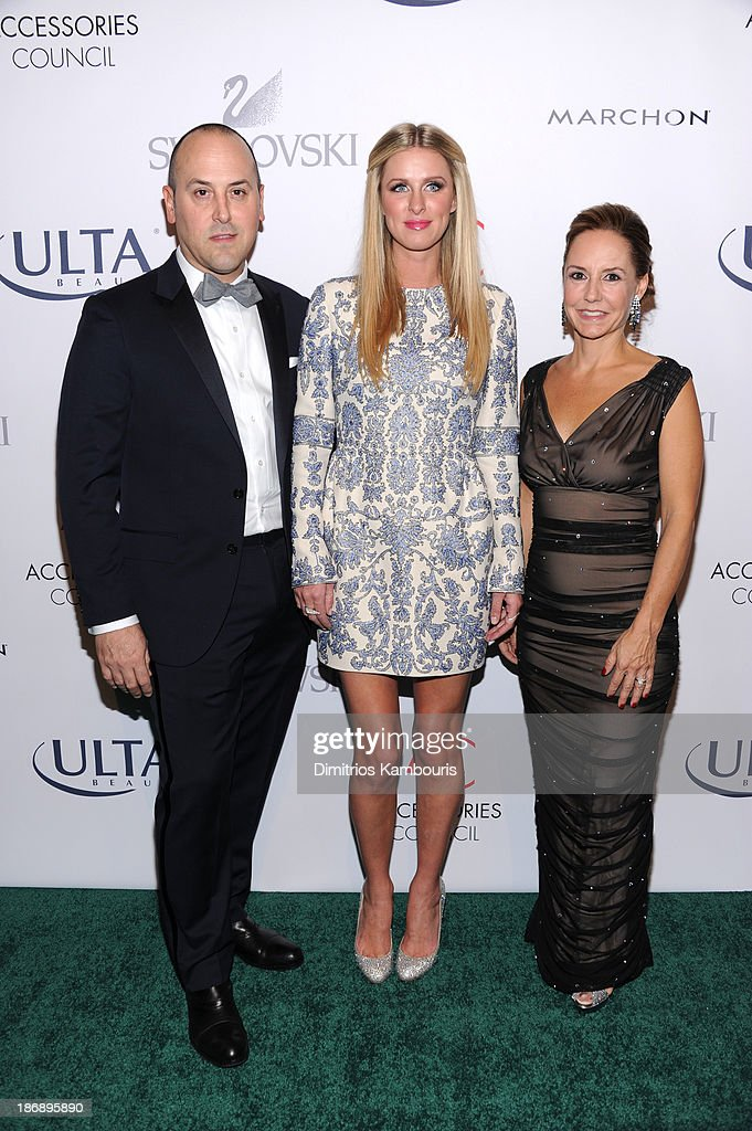 Chairman of the Accessories Council Frank Zambrelli, Nicky Hilton and President of Accessories Council Karen Giberson attend the 17th Annual Accessories Council ACE Awards At Cipriani 42nd Street on November 4, 2013 in New York City.