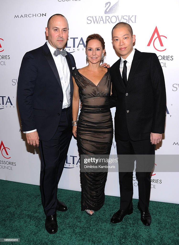 Chairman of the Accessories Council Frank Zambrelli, President of Accessories Council Karen Giberson and designer Jason Wu attend the 17th Annual Accessories Council ACE Awards At Cipriani 42nd Street on November 4, 2013 in New York City.