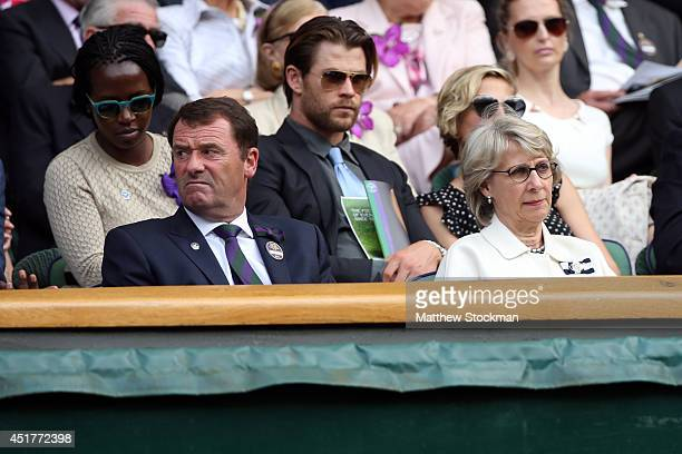 Chairman of the All England Lawn Tennis Club Philip Brook in the Royal Box on Centre Court before the Gentlemen's Singles Final match between Roger...