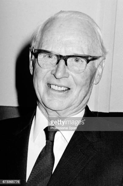 Chairman of the All England Lawn Tennis Club Sir Brian Burnett circa 1978