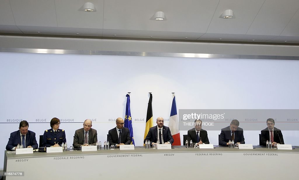 Chairman of the Belgian state security Jaak Raes Federal police general commissioner Catherine De Bolle Minister of Justice Koen Geens France's State...