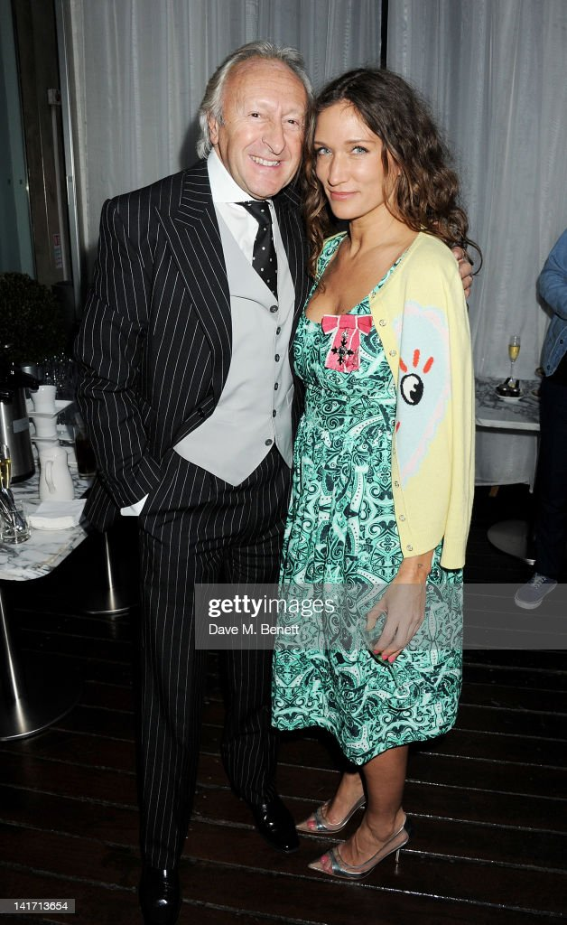 Chairman of the BFC Harold Tillman and fashion designer and founder of the Fashion East Initiative Lulu Kennedy attend a tea party in celebration of...