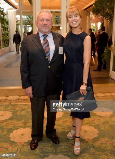 Chairman of the Board Gary Dartnall and BAFTA board memeber Julia Verdin attend the BAFTA LA 2014 Awards Season Tea Party at the Four Seasons Hotel...