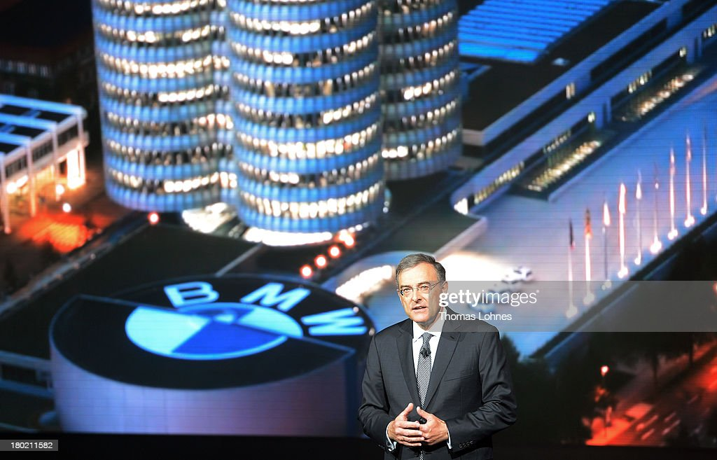 Chairman of the board of BMW Norbert Reithofer is pictured at the IAA international automobile show on September 10 2013 in Frankfurt Germany The...
